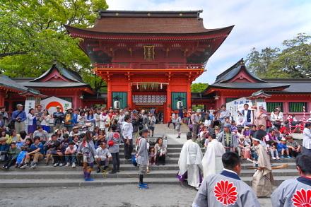 流鏑馬祭が行われた富士山本宮浅間大社