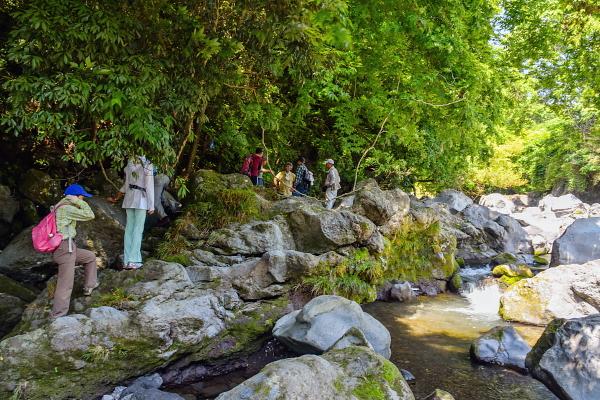 入山瀬渓谷に到着 渓谷美を楽しめる