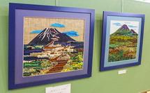 刺繍の富士山アート作品