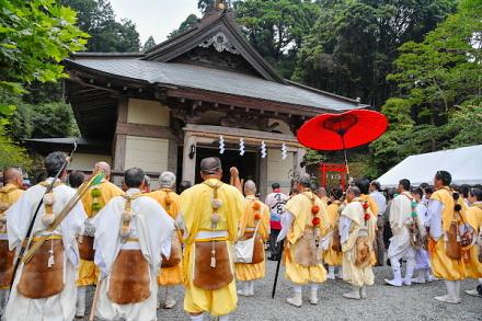 富士山お山開きが行われた村山浅間神社