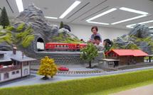 鉄道ジオラマもある