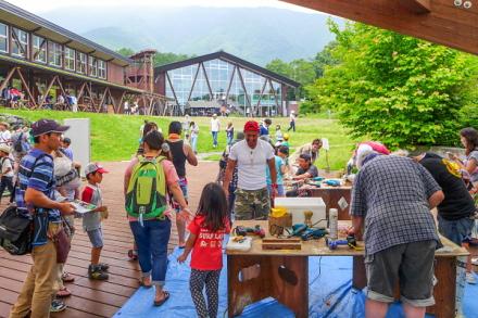 たぬき湖夏の大感謝祭 親子連れで賑わう自然塾