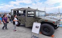 自衛隊車両の展示