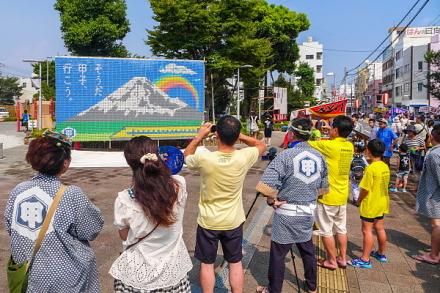 甲子祭が行われた富士市交流プラザ周辺