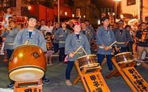 太鼓の競演(富士本町区)