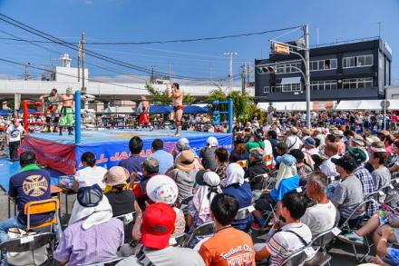 全日本プロレスin富士自動車学校 教習所コースがプロレス会場に