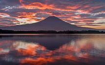 田貫湖撮影2日目 逆さ富士と朝焼けの風景