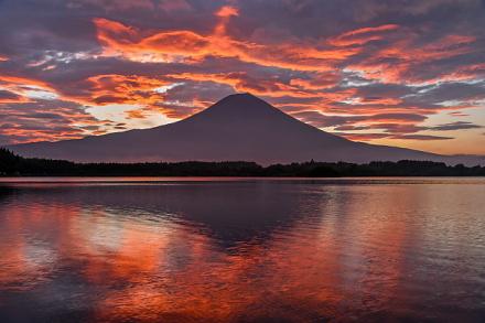 田貫湖撮影2日目 素晴らしい朝焼けの風景を堪能