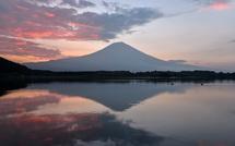 田貫湖撮影3日目 前日に続き朝焼けが見られた