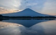田貫湖撮影3日目 薄雲に映る影富士も見られた