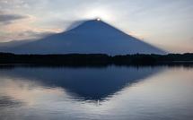 田貫湖撮影3日目 剣ヶ峰付近から朝日が昇り始める