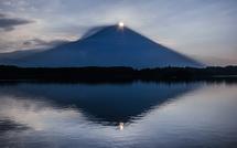 田貫湖撮影3日目にしてようやく捉えたダイヤモンド富士