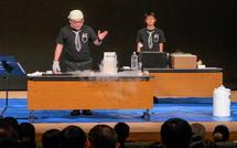 液体窒素を使った実験