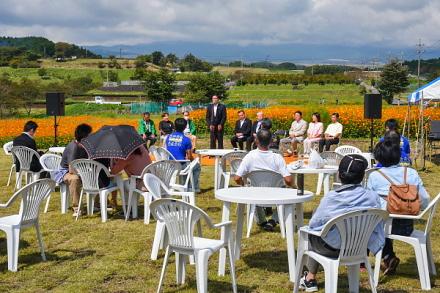 コスモスまつりが開催されたパノラマ遊花の里