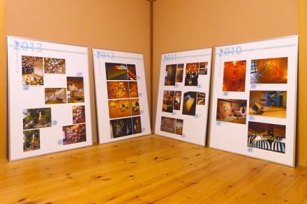 「紙のアートフェスティバル」のパネル展示