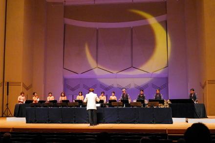 ハンドベルフェスタ会場のロゼシアター大ホール
