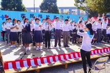 合唱のステージ