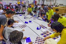 折り紙で富士山ぼうし作り