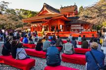 富士宮まつり開催で賑わう浅間大社境内