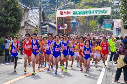 富士川キウイマラソン スタート直後