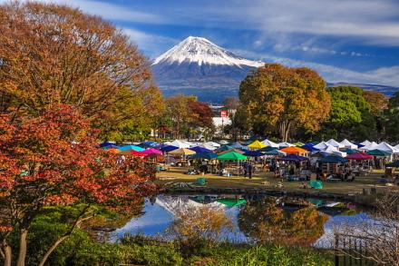 美しい富士山を楽しめたフェア会場の富士市中央公園