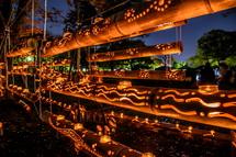 素敵な竹灯籠の明かり