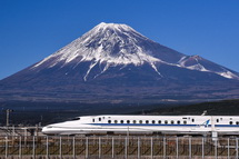 新幹線と富士山のコラボ