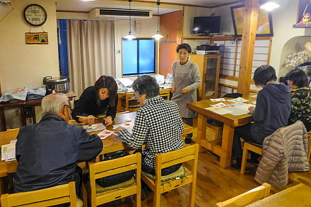 駿河干支凧作り教室が行われた吉原本宿