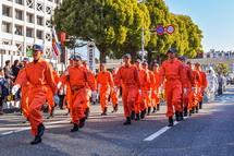 消防隊員のパレード