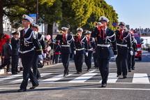 消防ラッパ隊のパレード