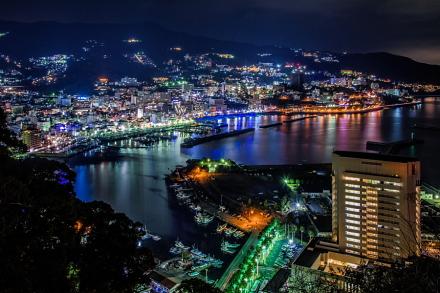 熱海城から眺めた素晴らしい夜景