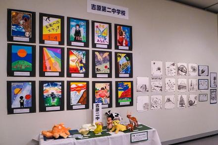 個性あふれる作品が目白押しの中学校美術展