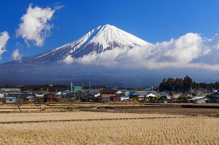 上野の里から見る富士山