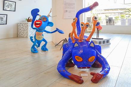 「RYUの妖怪展」展示風景