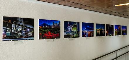 富士市の工場夜景写真の展示