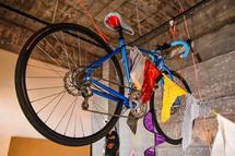 自転車も飾られた