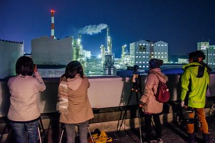 ポリプラスチックス富士工場での撮影