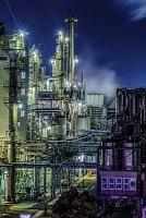 ポリプラスチックス富士工場の夜景写真