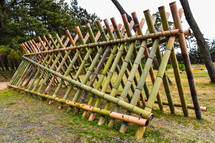 竹を組んで作られたアート作品