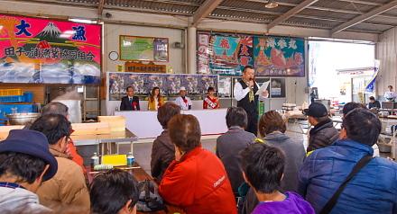 しらすの鉄人開催の漁協食堂