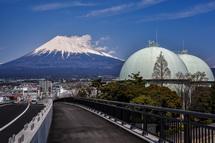 富士山夢の大橋からの富士山の眺め