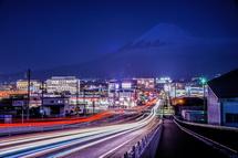 富士山夢の大橋からの夜景