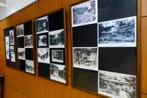 「絵はがきで見る100年前の裾野の名所」の展示