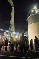 興亜工業での夜景見学