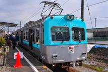 京王井の頭線カラーに塗装した電車登場
