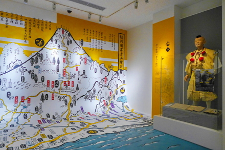充実した富士山に関する展示
