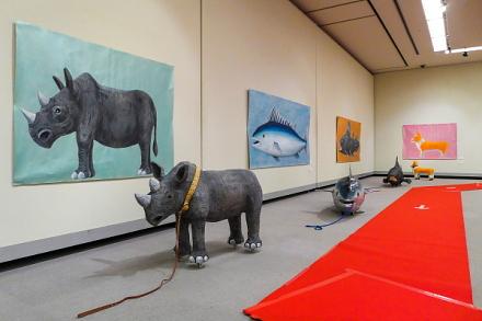モモクリテン2016開催のロゼシアター展示室
