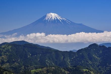 清水区吉原からの富士山ズーム撮影