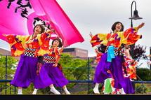 Mt.Fujiステージでのよさこい演舞