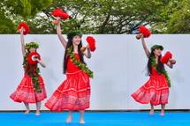 前日祭パフォーマンス フラダンス